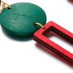 boucles doreilles pendantes en bois formes géométriques