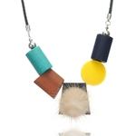 D-claration-des-femmes-pompons-Collier-pour-les-femmes-g-om-trique-bois-colliers-et-pendentifs