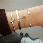 ZORCVENS-4-pi-ces-ensemble-la-mode-boh-me-30-Styles-Bracelets-Bracelets-arbre-en-argent