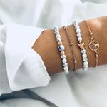 ZORCVENS-4-pi-ces-ensemble-boh-me-fait-main-perles-Bracelets-Vintage-mode-arbre-de-vie