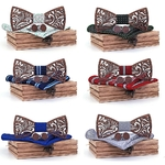 noeuds papillon en bois sculptés plusieurs couleurs