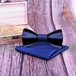 noeud papillon en bois noir