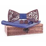 Noeud papillon floral bleu clair