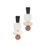 Sautoir bois - Harmonie-rectangulaire-bois-combinaison-pendentif-long-collier femmes-geometrique
