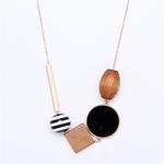 geometrique-bois-combinaison-pendentif-long-collier