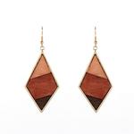 boucles pendantes trio geometrique-bois-combinaison-boucles-d-oreilles