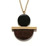 collier smile pendentif-circulaire-bois-Composite-pendentif-Long