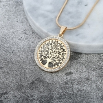 collier pendentif arbre de vie couleur or