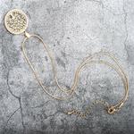 collier avec chaîne et pendentif arbre de vie