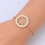bracelet femme arbre de vie plaqué or