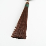 Sauvage-gratuit-femmes-Vintage-bois-collier-pendentif-Antique-or-cha-ne-marron-fil-gland-pendentif-collier