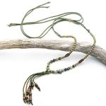 Style-boh-me-vert-pierre-naturelle-perles-collier-pour-femmes-r-glable-bois-perles-gland-pendentif