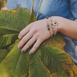 Ethno-3-pi-ces-En-Bois-Vintage-Perle-Tissu-Ensemble-De-Bracelets-Antiques-Or-et-Argent
