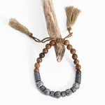 Vintage-pierre-naturelle-bracelets-pour-femme-marron-cotons-glands-Texture-perles-en-bois-bracelets-porte-bonheur