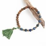 Bracelet-extensible-boh-me-populaire-sauvage-et-gratuit-pour-femmes-Texture-perles-de-bois-et-glands