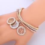 3 bracelets à breloques avec arbre de vie