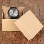 montre bois silver carton