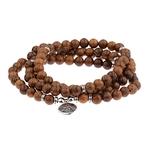 bracelet perles de bois triple tour