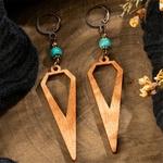 boucles doreilles pendantes bois ethniques bohème