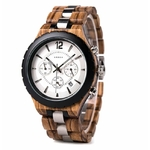 montre bois chronographe - Black&White