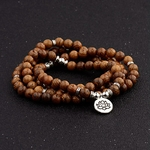 bracelet en bois triple tour de poignet
