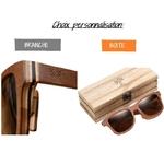 Choix personnalisation lunettes bois