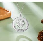 collier arbre de vie coeur personnalise prenom 3