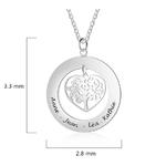 collier arbre de vie coeur personnalise prenom 1