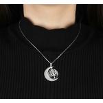 collier arbre de vie lune personnalise prenom 1