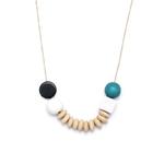 collier bois grandes perles
