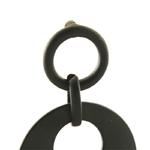 boucles doreilles pendantes bois et noires