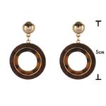 boucles doreilles pendantes en bois cercle