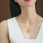 Collier-d-arbre-genealogique-personnalise avec-4-pierres-de-naissance-couleur-or-or-Rose