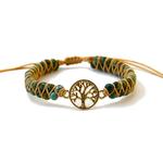 bracelet arbre de vie pierre jaspe africain