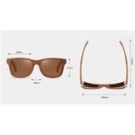 lunettes de soleil bois skateboard personnalisable details