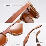 lunettes de soleil bois skateboard personnalisable details techniques