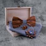 noeud papillon en bois accessoire homme mariage