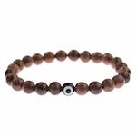 bracelet bois mala tibétain bouddhiste mauvais oeil protection