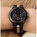 montre bois chronographe - Black&White 3