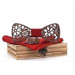 noeud papillon bois rouge paquerette