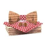 noeud papillon bois toulouse rouge