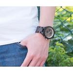 montre en bois homme chronographe carlit