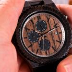 montre en bois chronographe personnalisable carlit