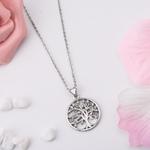 collier pendentif arbre de vie argent 925 et zincon AAA