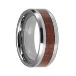 bague en bois et tungstene 8 mm 2