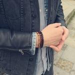 Nouvelle-Mode-En-Bois-Naturel-Perl-Charme-Bracelet-Extensible-Pour-Homme-Femmes-Chanceux-Fait-Main-bracelet