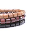 Nouvelle-Mode-En-Bois-Naturel-Perl-Charme-Bracelet-Extensible-Pour-Homme-Femmes-Chanceux-Fait-Main-trois-bracelets