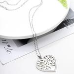 Acier-inoxydable-en-forme-de-coeur-arbre-de-vie-pendentif-collier-pour-femmes-argent-cristal-Long