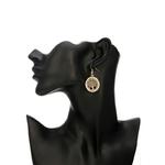 Arbre-de-vie-chaude-cristal-rond-petit-pendentif-Collier-et-boucle-d-oreille-or-Rose-Bijoux