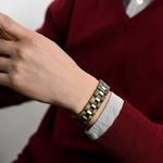 Bracelet-en-bois-acier-inoxydable-maillons-design